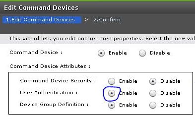 Comand device setup
